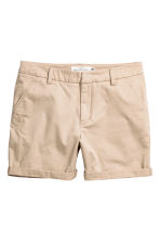 Cotton shorts - Light beige - Ladies | H&M 2