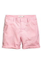Cotton shorts - Pink/White striped - Ladies | H&M IE 3