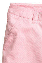 Cotton shorts - Pink/White striped - Ladies | H&M IE 4