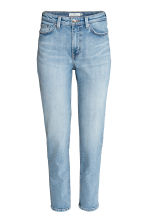 Straight High Waist Jeans - Licht denimblauw - DAMES | H&M BE 3