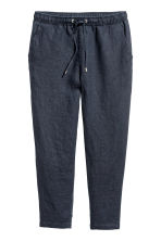 Linen joggers - Dark blue - Ladies | H&M 2