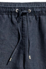 Linen joggers - Dark blue - Ladies | H&M 4
