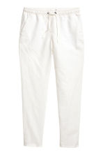 Linen joggers - White - Ladies | H&M 2