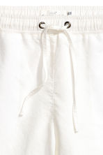 Linen joggers - White - Ladies | H&M 3