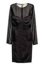 Satin dress - Black - Ladies | H&M CA 2