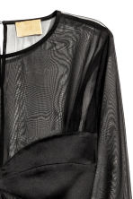 Satin dress - Black - Ladies | H&M CA 3