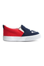 Slip-on trainers - Dark blue/Anchor - Kids | H&M CN 2