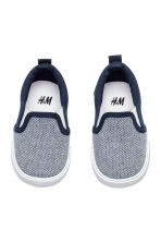 Slip-on trainers - Dark blue/White -  | H&M 2
