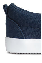Slip-on trainers - Dark blue/White -  | H&M CN 4