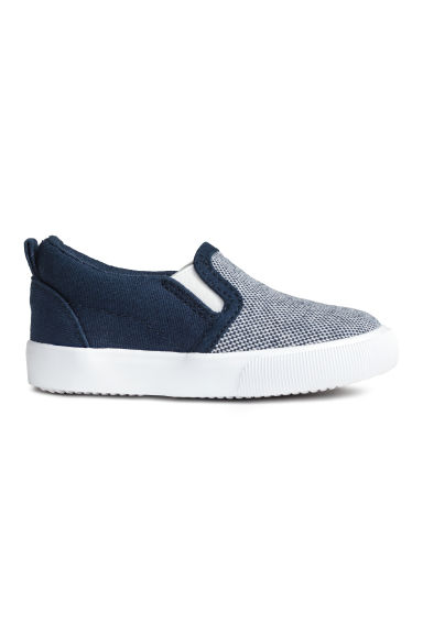 Slip-on trainers - Dark blue/White -  | H&M 1