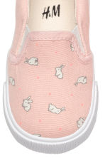 Slip-on trainers - Powder pink/Rabbits - Kids | H&M 3