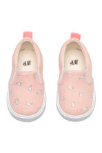 Slip-on trainers - Powder pink/Rabbits - Kids | H&M 1