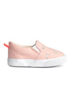 Slip-on trainers - Powder pink/Rabbits - Kids | H&M 2