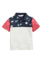 Jersey polo shirt - Dark blue/Stars -  | H&M 2