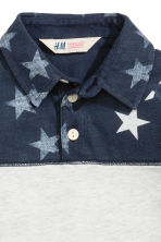 Jersey polo shirt - Dark blue/Stars -  | H&M 3