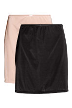 2-pack underskirts - Black/Chai - Ladies | H&M 2