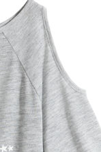 Cold shoulder top - Grey marl/Star - Kids | H&M CN 3