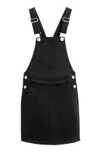 Dungaree dress - Black -  | H&M 2