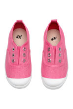 Cotton canvas trainers - Pink - Kids | H&M CN 3