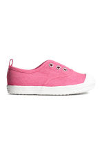 Cotton canvas trainers - Pink - Kids | H&M CN 2