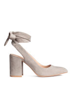 Court shoes with ties - Light grey - Ladies | H&M 1
