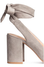Court shoes with ties - Light grey - Ladies | H&M GB 4