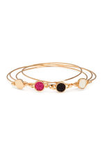 4-pack bangles - Gold/Pink - Ladies | H&M CA 1