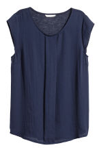 Pleated top - Dark blue - Ladies | H&M 2