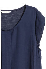 Pleated top - Dark blue - Ladies | H&M 3