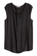 Pleated top - Black -  | H&M 2
