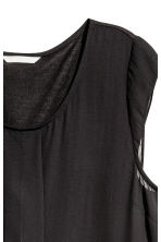 Pleated top - Black -  | H&M 3