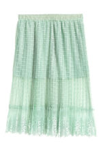 Knee-length lace skirt - Pistachio green - Ladies | H&M CN 2