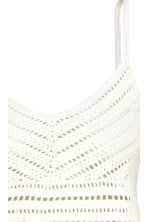 Crocheted top - White - Ladies | H&M 3