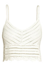 Crocheted top - White - Ladies | H&M CN 2