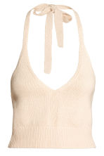 Knitted halterneck top - null - Ladies | H&M CN 2