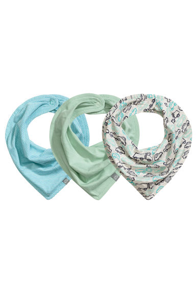 3-pack triangular scarves - Mint green -  | H&M 1