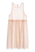 Mesh dress - Powder beige - Ladies | H&M CN 2