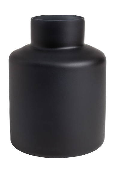 Glass vase - Black/low - Home All | H&M CN