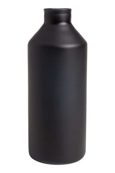 Glass vase - Black/Tall - Home All | H&M CN 1