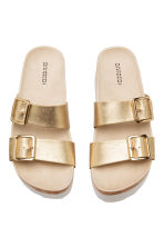 Platform mules - Gold - Ladies | H&M 3