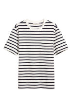 T-shirt - White/Dark blue/Striped - Men | H&M CN 2
