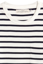 T-shirt - White/Dark blue/Striped - Men | H&M CN 3