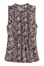 Sleeveless blouse - Powder/Patterned - Ladies | H&M 1