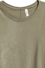 Long-sleeved top - Khaki green - Ladies | H&M CN 3