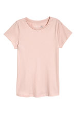 Short-sleeved top - Powder pink - Ladies | H&M CN 2