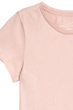 Short-sleeved top - Powder pink - Ladies | H&M CN 3
