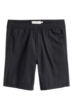 Knee-length cotton shorts - Black - Men | H&M CN 1