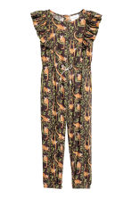 Patterned jumpsuit - Dark brown -  | H&M 2