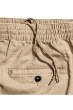 Linen-blend trousers - Dark beige - Men | H&M 3