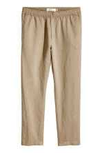 Linen-blend trousers - Dark beige - Men | H&M 2